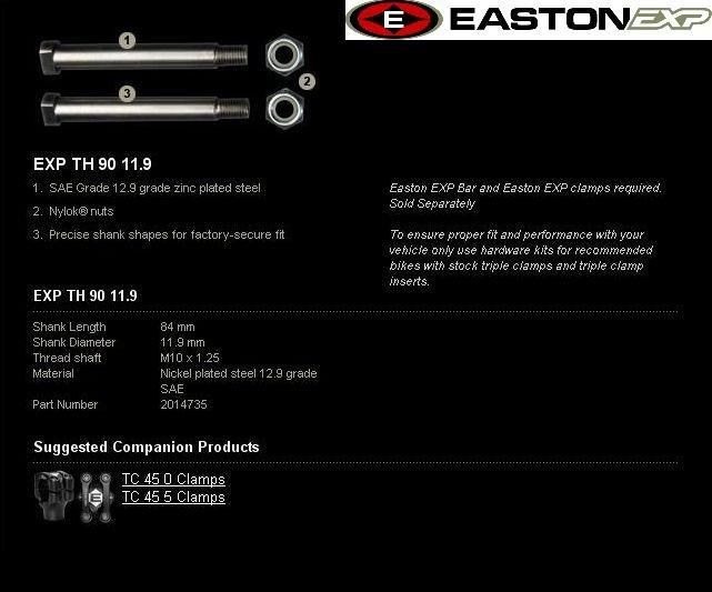 Montážní sada řidítek EXP