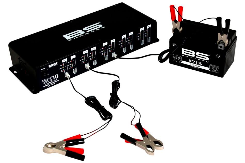 Profesionální nabíječka pro 10 baterií 10 Bank charger 12V 10x1A