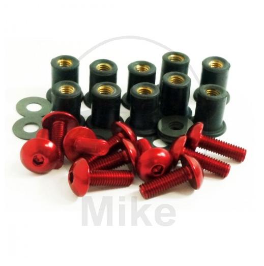Šrouby na plexi M5 hliník červená