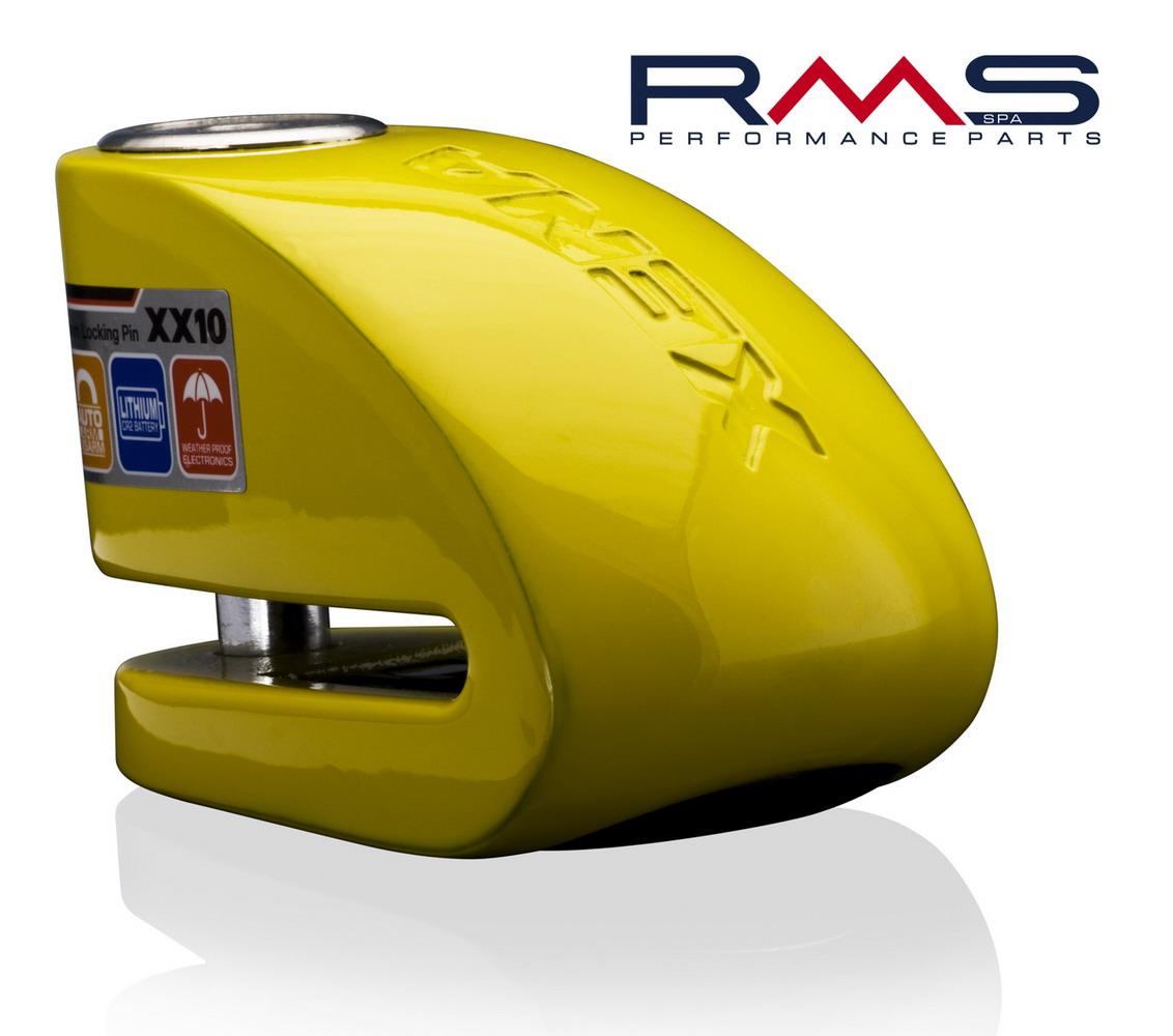 Zámek na kotouč d10mm žlutá