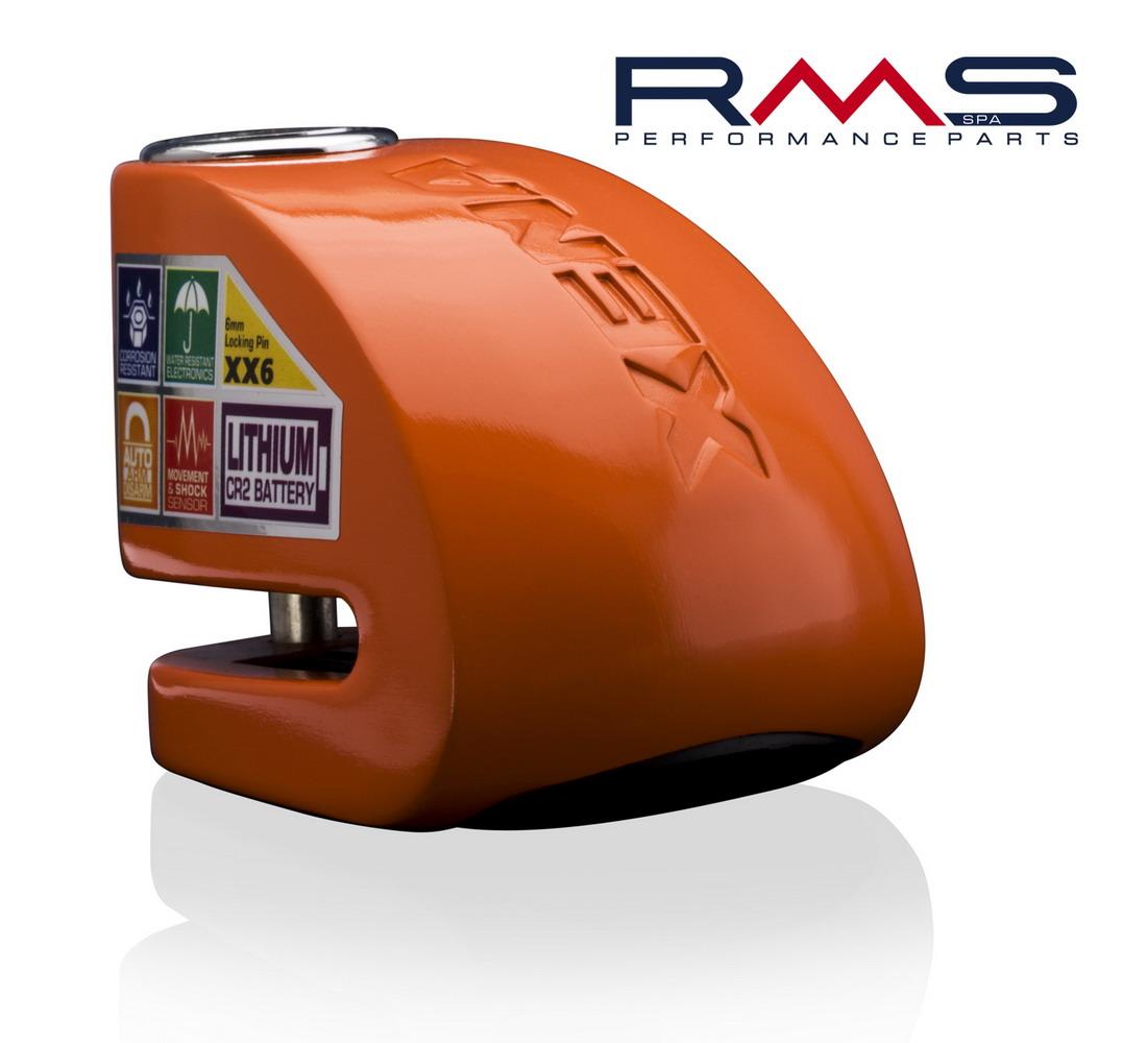 Zámek na kotouč d6mm oranžová
