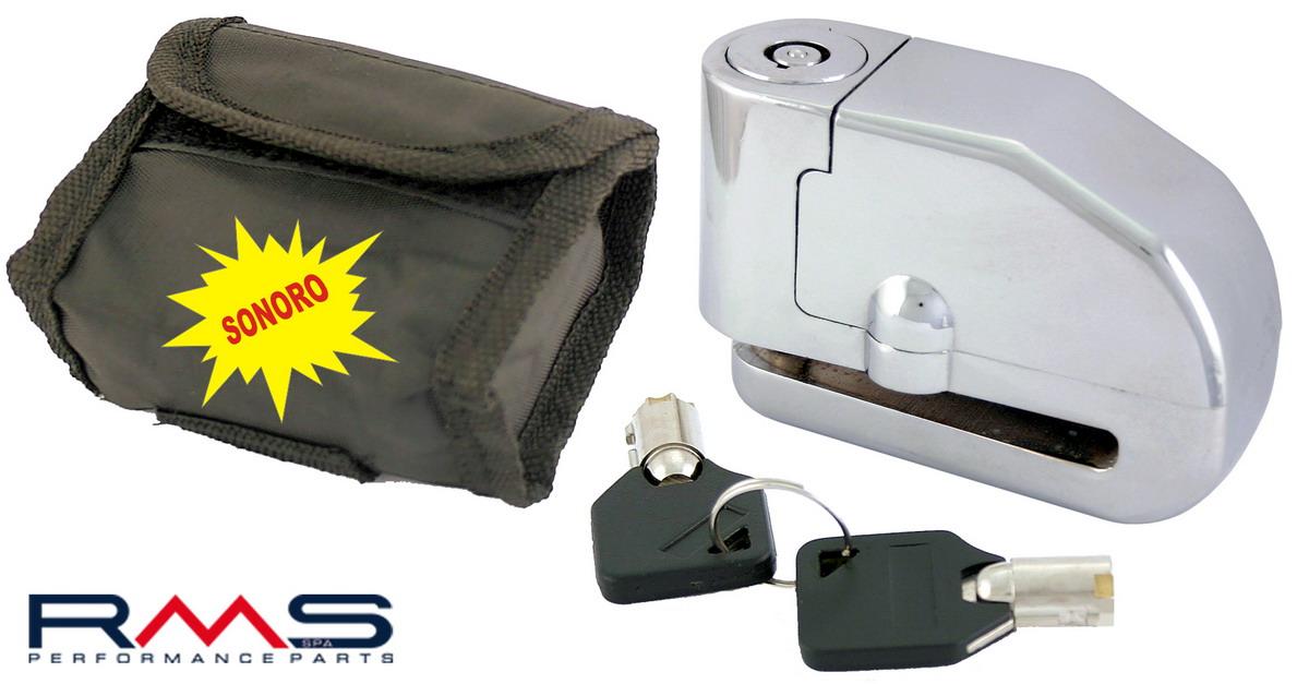 Zámek na kotouč d6mm s alarmem