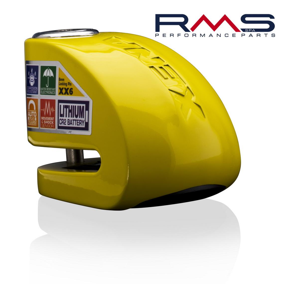 Zámek na kotouč d6mm žlutá